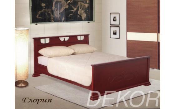 """Кровать из массива дерева с 2 спинками """"Глория"""""""