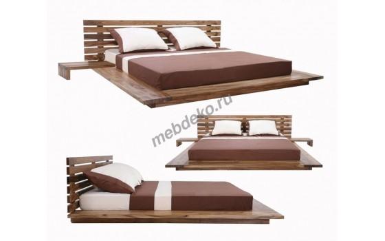 """Кровать в японском стиле из массива натурального дерева  """"Катана"""""""