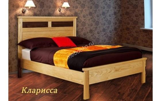 """Кровать из натурального дерева с высокой спинкой """"Кларисса"""""""