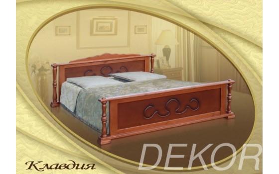 """Кровать с 2 спинками из натурального дерева  """"Клавдия"""""""