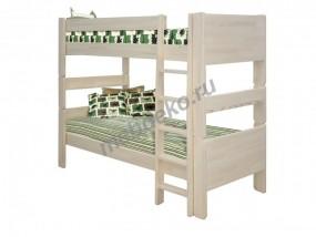 """Детская двухъярусная кровать из натурального дерева с приставной лесенкой  """"Лилия"""""""