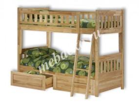 """Двухъярусная кровать """"Мадрид"""" с ящиками (в)"""