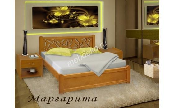 """Кровать из дерева с красивой резной спинкой """"Маргарита"""""""