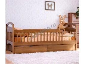 """Кровать подростковая """"Милослава"""" из массива дерева с ящиками"""