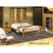 """Кровать из массива  дерева с 2 спинками """"Михаэлла"""""""