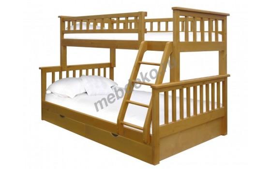"""Двухъярусная кровать """"Модерн"""" с ящиками"""