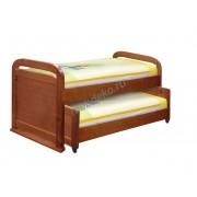 """Кровать с дополнительным выкатным спальным местом из массива сосны """"Мурзилка"""""""