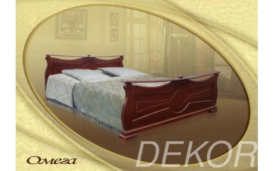 """Кровать из массива с двумя спинками """"Омега"""""""