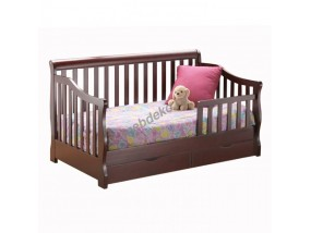 """Детская кровать из массива дерева с выкатными ящиками """"Сашуля"""""""