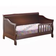 """Кровать детская из натурального дерева """"Сашуля 2"""" с бортиком"""