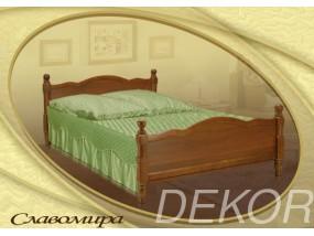 """Кровать из натурального дерева с двумя спинками """"Славомира"""""""