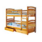 Детская 2-х ярусная кровать Стелла с ящиками (в)
