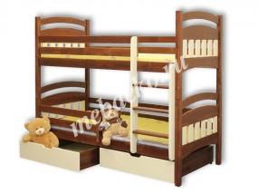 Детская 2-х ярусная кровать Стелла плюс  с ящиками (в)
