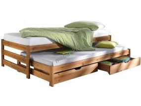 """Кровать с выкатным дополнительным спальным местом и выкатными ящикам """"Трио"""""""