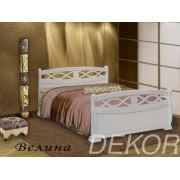 """Кровать из натурального дерева с резной спинкой """"Велина"""""""