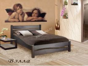 """Кровать из массива натурального дерева со спинкой """"Вэлла"""""""