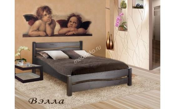 """Кровать из массива натурального дерева со спинкой """"Вэлла"""