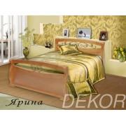 """Кровать из массива  дерева  """"Ярина"""" (2 спинки с элементами ковки)"""