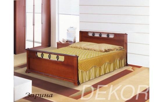 """Кровать с 2 спинками из массива дерева """"Зарина"""""""