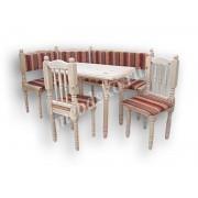 """Мягкий кухонный уголок из массива дерева с 2 стульями и столом  """"Каскад"""""""