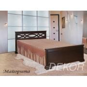 """Кровать с резной спинкой из массива натурального дерева """"Майорита"""""""
