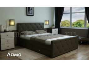 """Мягкая кровать """"Лама"""""""
