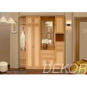 Комплект мебели в прихожую Алёна-1 с угловым элементом и шкафом для платья