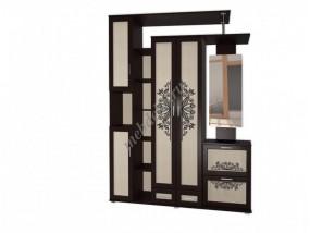 """Мебель в прихожую """"Жозефина-9"""" с полками и шкафом для одежды"""