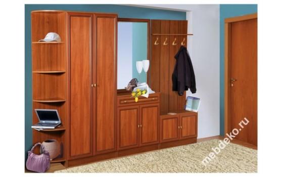 Мебель в прихожую Салют-14 с угловым элементом и платяным шкафом