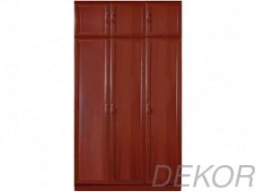 Шкаф распашной МДФ 3-х дверный с антресолью