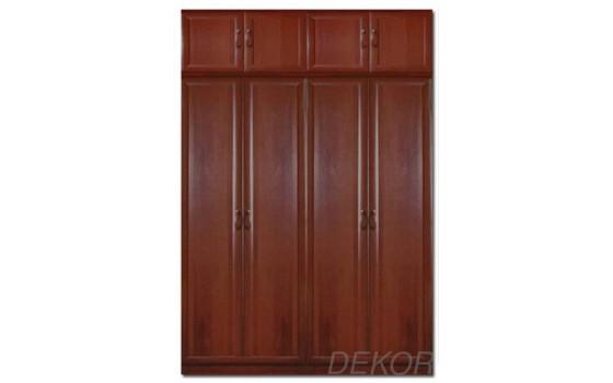 Шкаф распашной МДФ 4-х дверный с антресолью