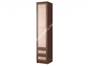 """Распашной одностворчатый шкаф с двумя выдвижными ящиками """"Эрника-1.2"""""""