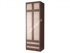 """Шкаф с двумя распашными дверками и антресолью """"Эрника-2.2.А"""""""