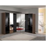 """Шкафная композиция """"Глянец-6"""" с глянцевыми фасадами и зеркальными дверями"""