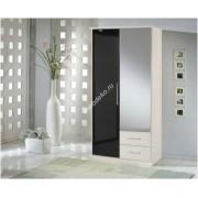"""Шкаф распашной """"Глянец-8"""" с одной зеркальной дверью"""