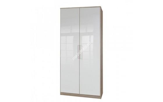 """Глянец-4"" шкаф распашной с белыми глянцевыми фасадами"