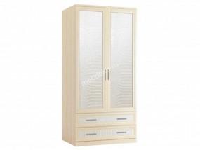 """Комбинированный распашной шкаф """"Кожа-блеск 2.2"""""""