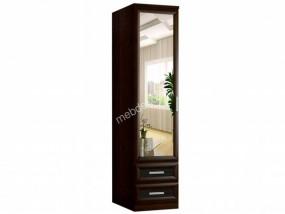 """Одностворчатый шкаф """"Кожа-блеск 1.2"""" с зеркалом и ящиками"""