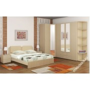 """Комплект мебели для спальни """"Белая ночь"""" с угловым шкафом"""