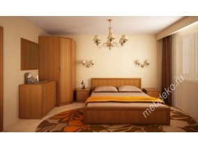 """Набор мебели для спальной комнаты """"Валерия-3"""" с угловым комбинированным шкафом"""