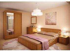 """Набор мебели для спальной комнаты """"Валерия-7"""" со шкафом-купе и комодом"""