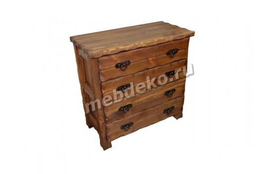 """Комод из искусственно состаренной древесины с 4 выдвижными ящиками """"Добрыня 1"""""""