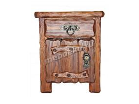 """Тумба из натурального дерева с элементами старения с выдвижным ящиком """"Шале 3"""""""