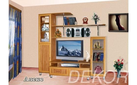 """Набор мебели в гостиную комнату со стеклом """"Алекс"""""""