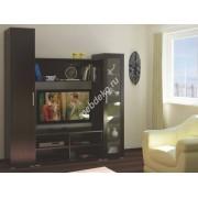 """Набор мебели для гостиной комнаты со стеклом и нишей под тв """"Альпина"""""""