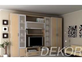 """Набор мебели в гостиную с нишей под тв и матовым стеклом """"Аврелия-9"""""""