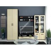 """Мебель для гостиной комнаты с двустворчатым шкафом с дверками со вставками из стекла  """"Фламия-3"""""""