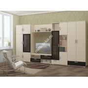 """Комплект мебели для гостиной комнаты со стеклом и нишей под телевизор """"Кристи"""""""