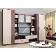 """Набор мебели для гостиной с матовым стеклом и распашными шкафами  """"Медея"""""""