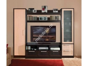 """Мебель в гостиную комнату с матовым стеклом """"Олимпия-2"""""""